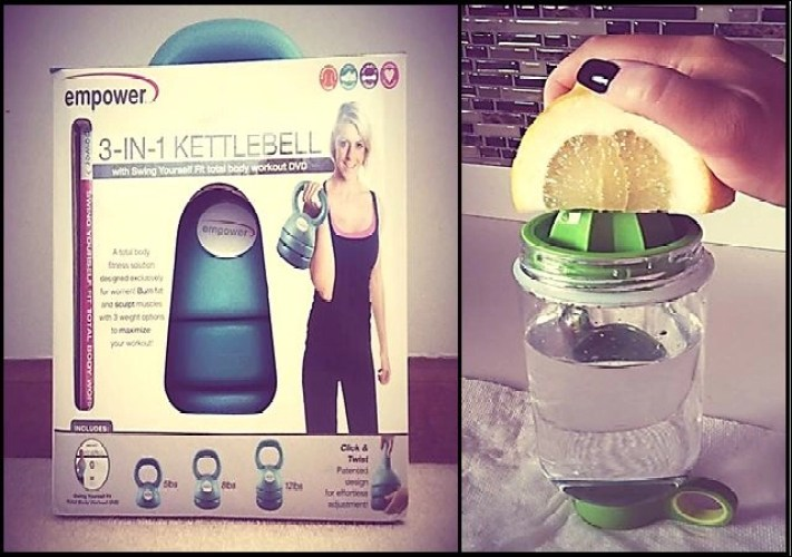 Starting the Summer with Healthier Choices -- empowewr 3-in-1 kettlebell with DVD