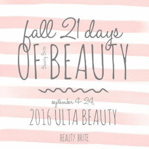 21 Days of Beauty Fall 2016