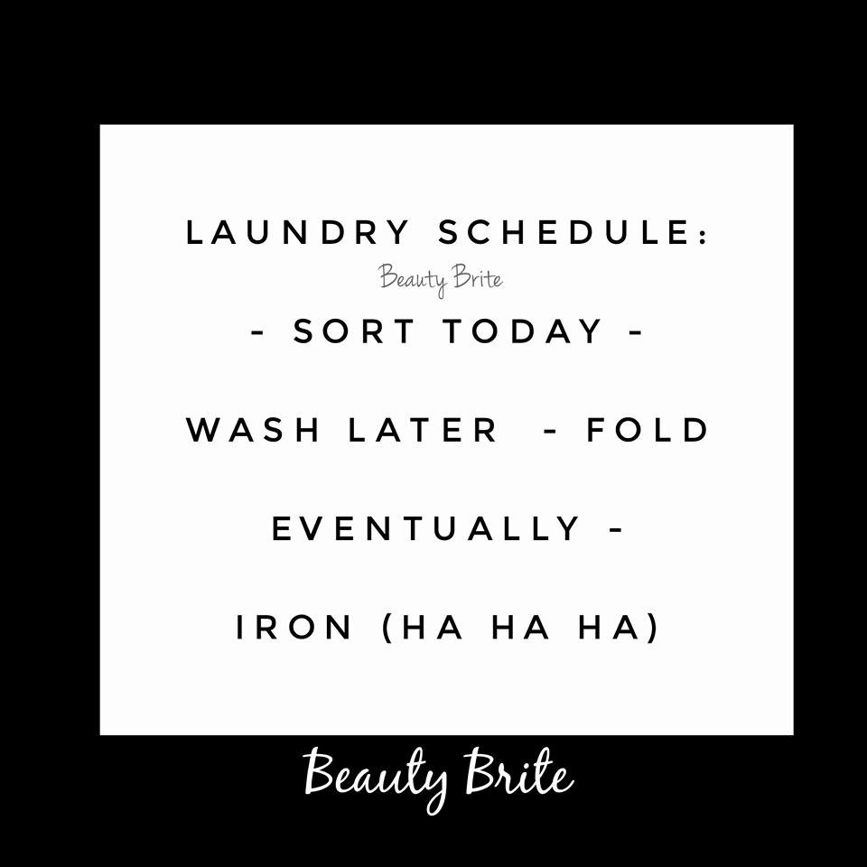 Laundry Quote-Beauty Brite