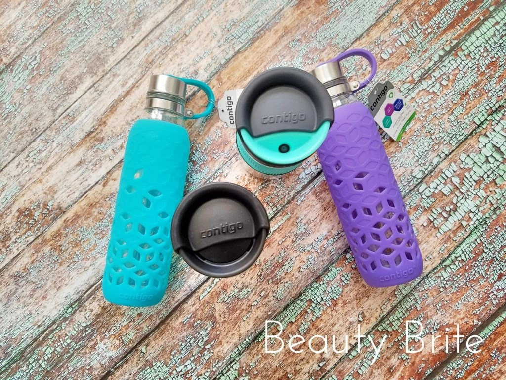 Purity Petal Glass Water Bottle and AUTOSEAL® Transit Stainless Steel Travel Mug