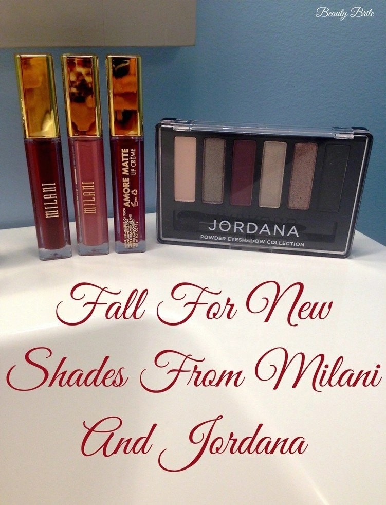 Fall For New Shades From Milani And Jordana - Milani Amore Mattes Lip Color and Jordana Made To Last Eyeshadow Collection