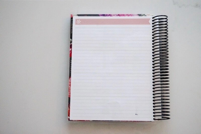 Erin Condren Lifestyle Planner NOTES Section