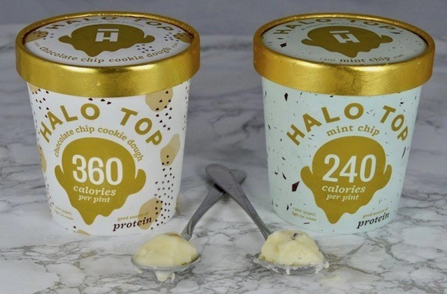 Halo Top Mint Chip & Chocolate Chip Cookie Dough