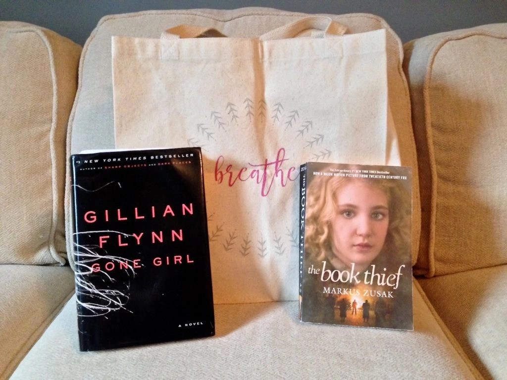 I Choose Beauty Tote and books