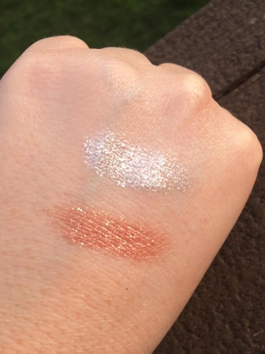 Bodyography Glitter Pigments Applied on Skin