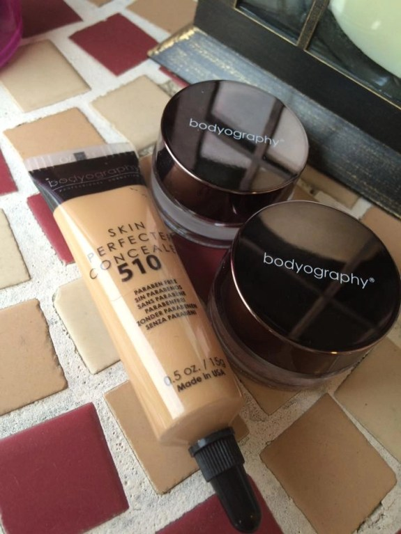 Bodyography Skin Perfecting Concealer and Bodyography Glitter Pigments