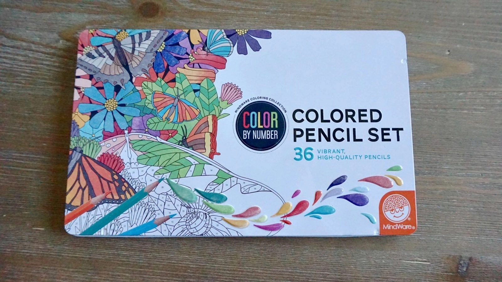 Color By Number Color Pencil Set Packaging
