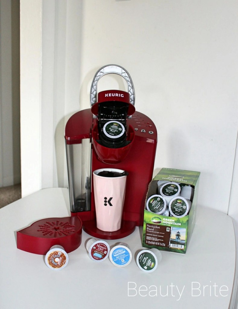 Rhubarb Keurig® K55 brewer, Travel Mug, Green Mountain Coffee