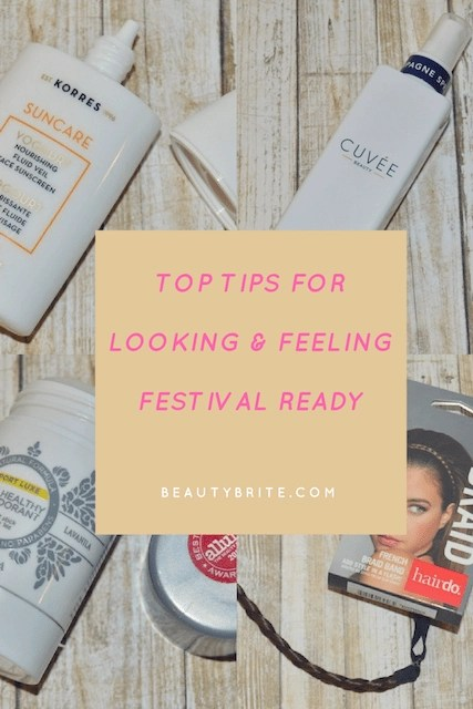 Top Tips for Looking & Feeling Festival Ready -- Korres, Cuvee, Lavanila, Hairdo