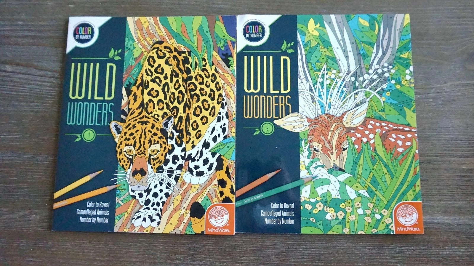 A few adult coloring books from Wild Wonders