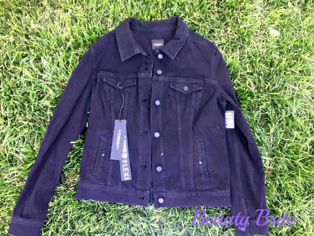 Black Rinse Denim Jacket