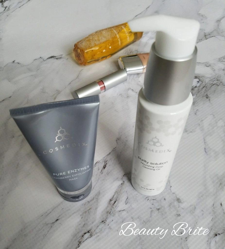 Cosmedix Pure Enzymes Mask and Purity Solution Cleansing Oil