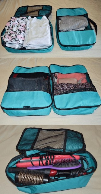 Utilizing different packing cubes