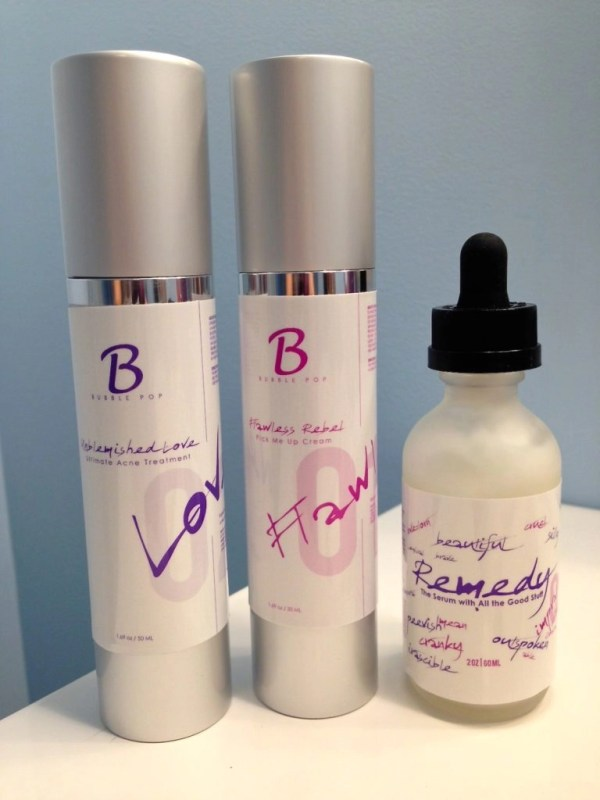 Bubble Pop Beauty-Unblemished Love Ultimate Acne Treatment-Flawless Rebel Pick Me Up Cream-The Remedy Hair Serum