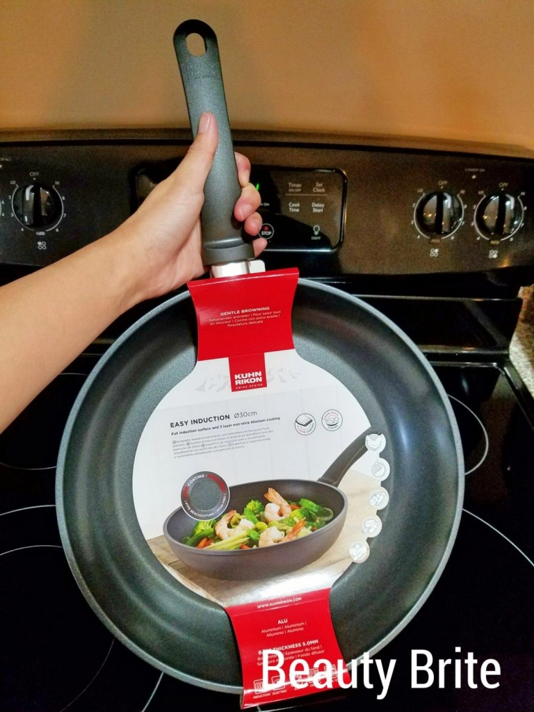 Kuhn Rikon Easy Induction Frying Pan in hand