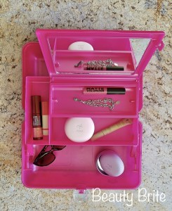 Caboodles On-The-Go Girl Classic Case flat lay