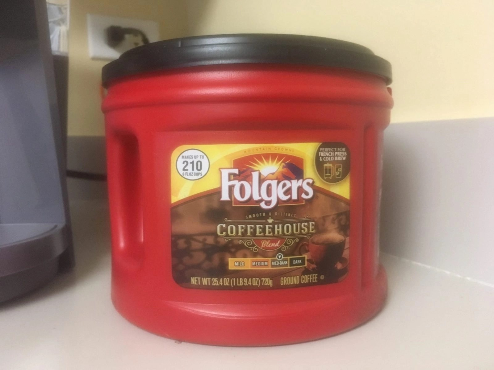 Folgers Large Container of Classic Roast coffee