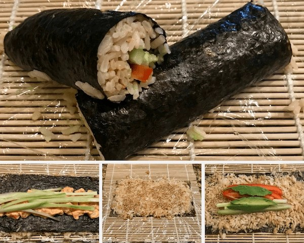 The sushi making process
