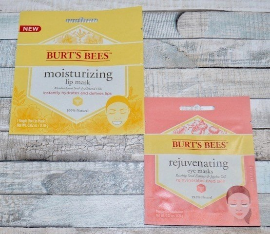 Burt's Bees Lips and Eye Sheet Mask
