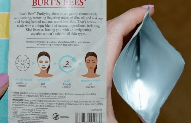 Burt's Bee's Sheet Mask Packaging
