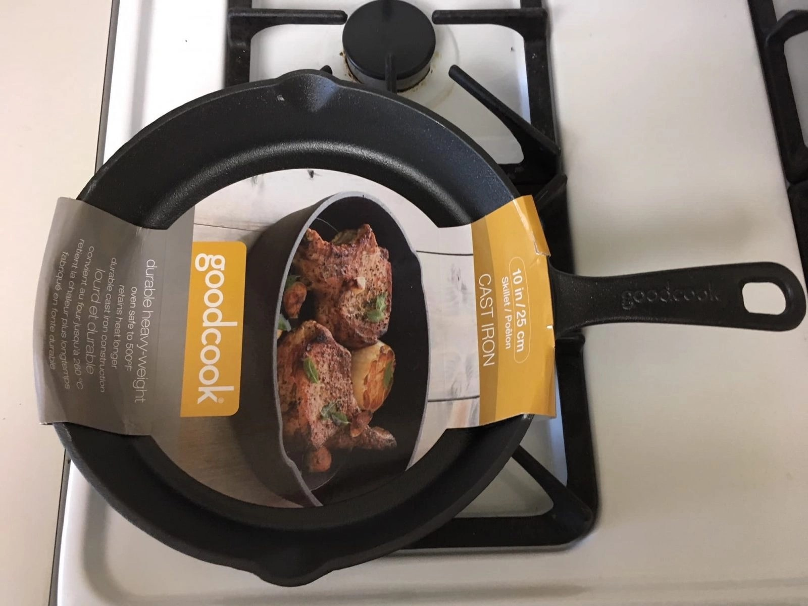 Cast Iron Skillet on the stove