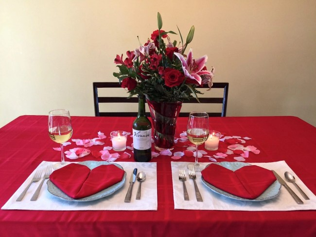 Teleflora Valentines Day Bouquets and Vivanco Wines-table display-3