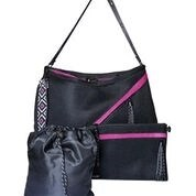 Go Dash Dot Infinity Bag black pink