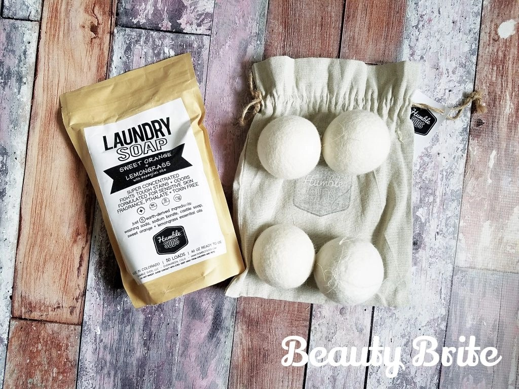 Dry Laundry Soap and Wool Dryer Ball Set