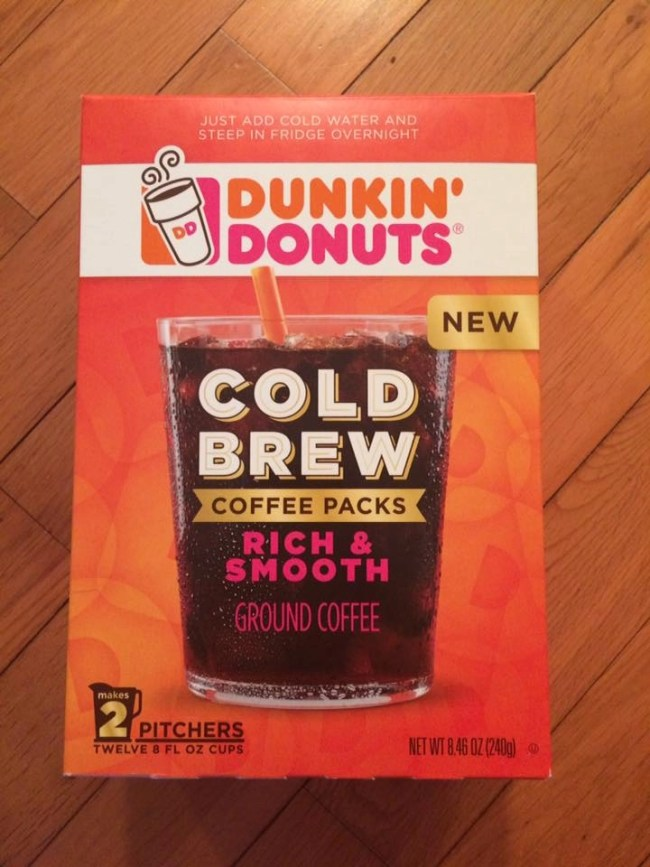 Dunkin Donuts Cold Brew Coffee Packs