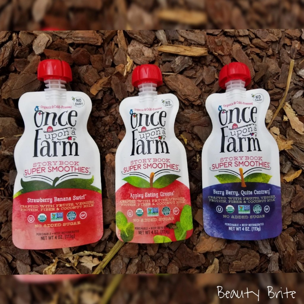 Once Upon a Farm fruit smoothie pouches