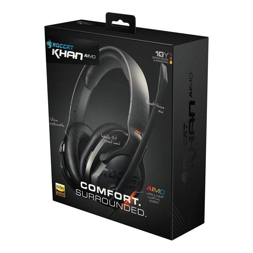 ROCCAT Khan AIMO Illumination Gaming Headset box