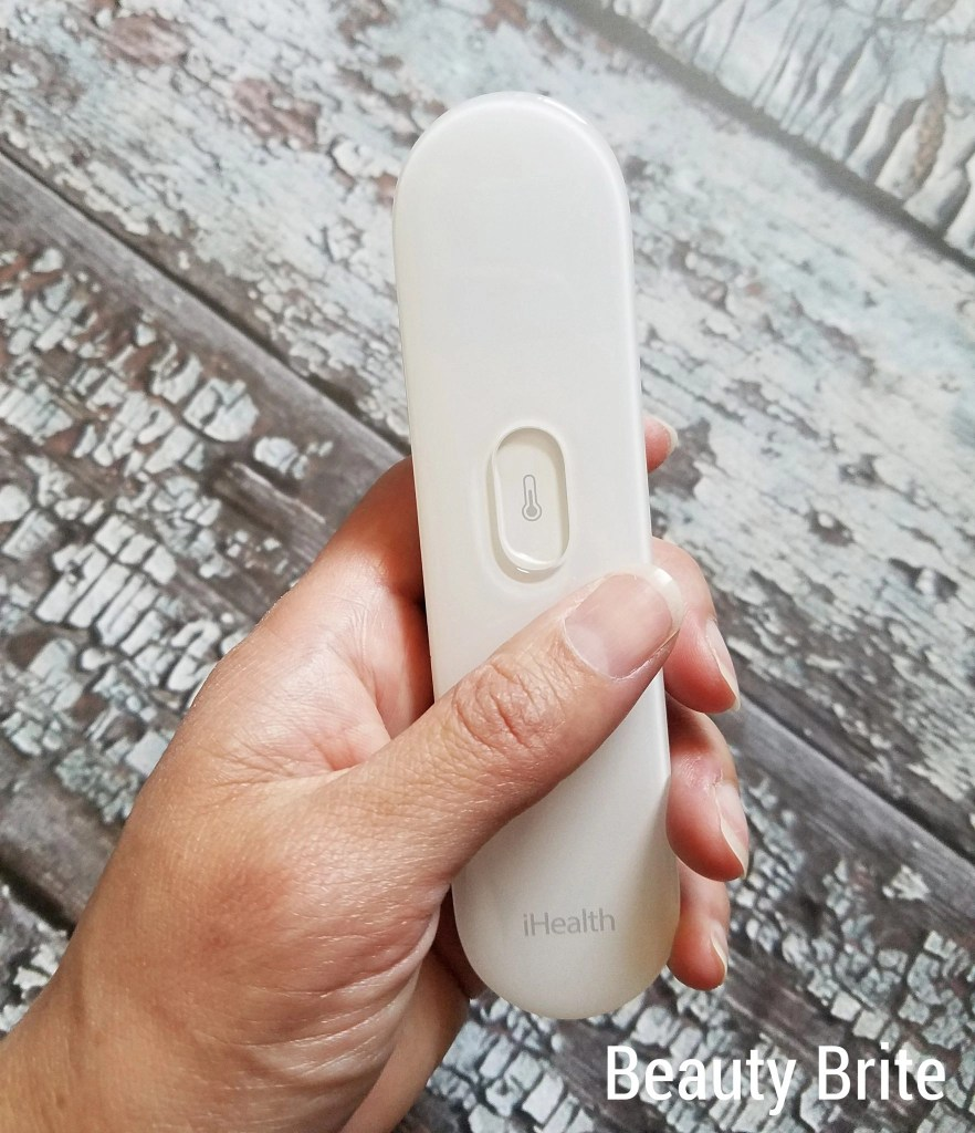 Infrared No-Touch Thermometer in hand