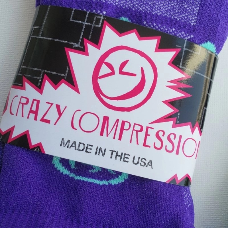 Crazy Compression Knee High Purple Socks