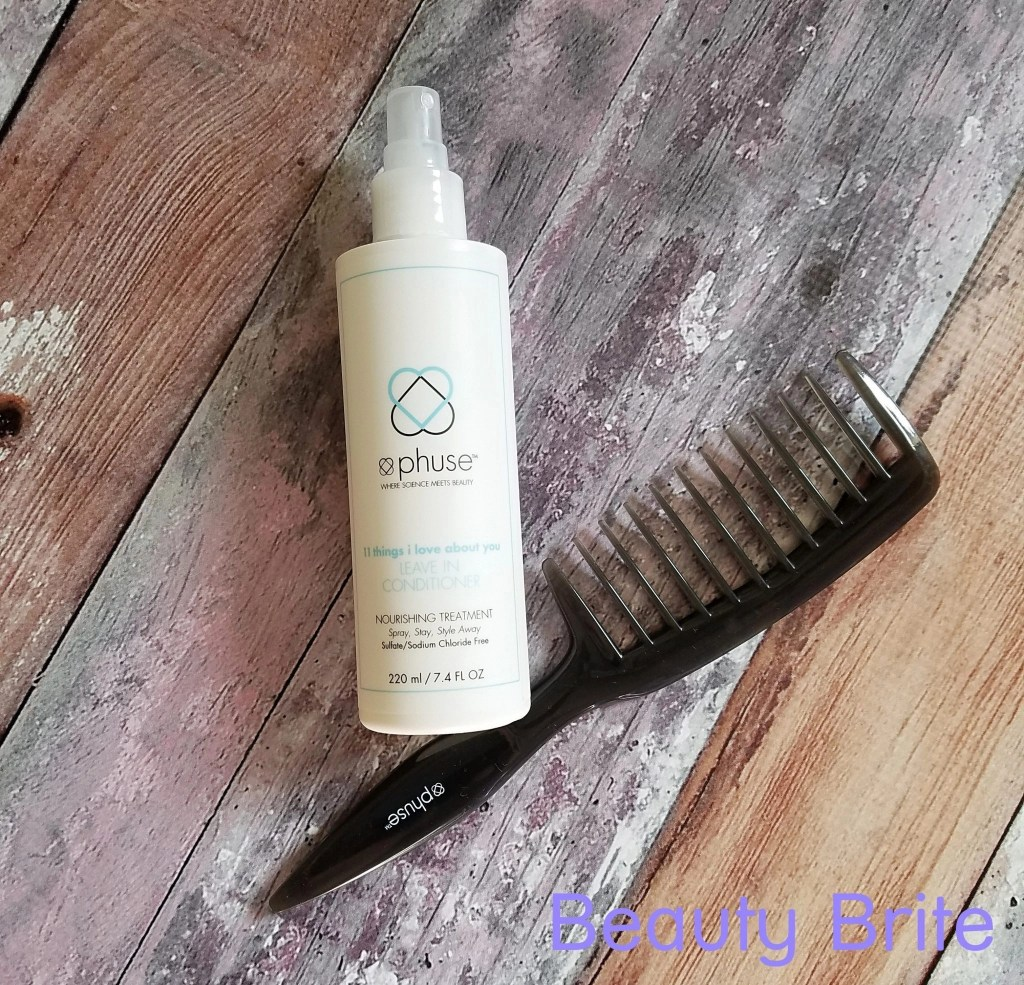 Leave-in conditioner and wide tooth comb