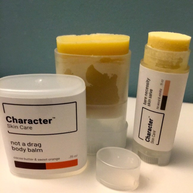 Character Skin Care Not A Drag Body Balm and Bare Necessity Skin Salve