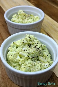 Avocado Egg Salad with garnish