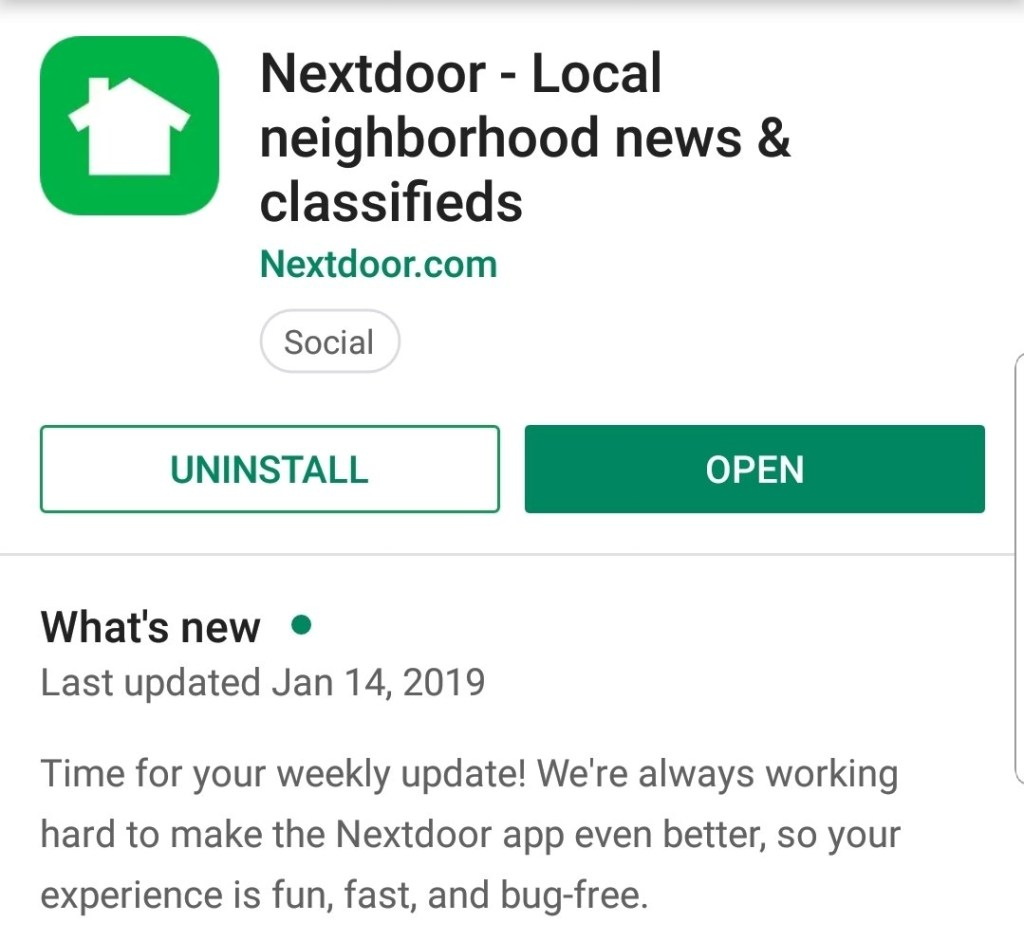Nextdoor Application for Android