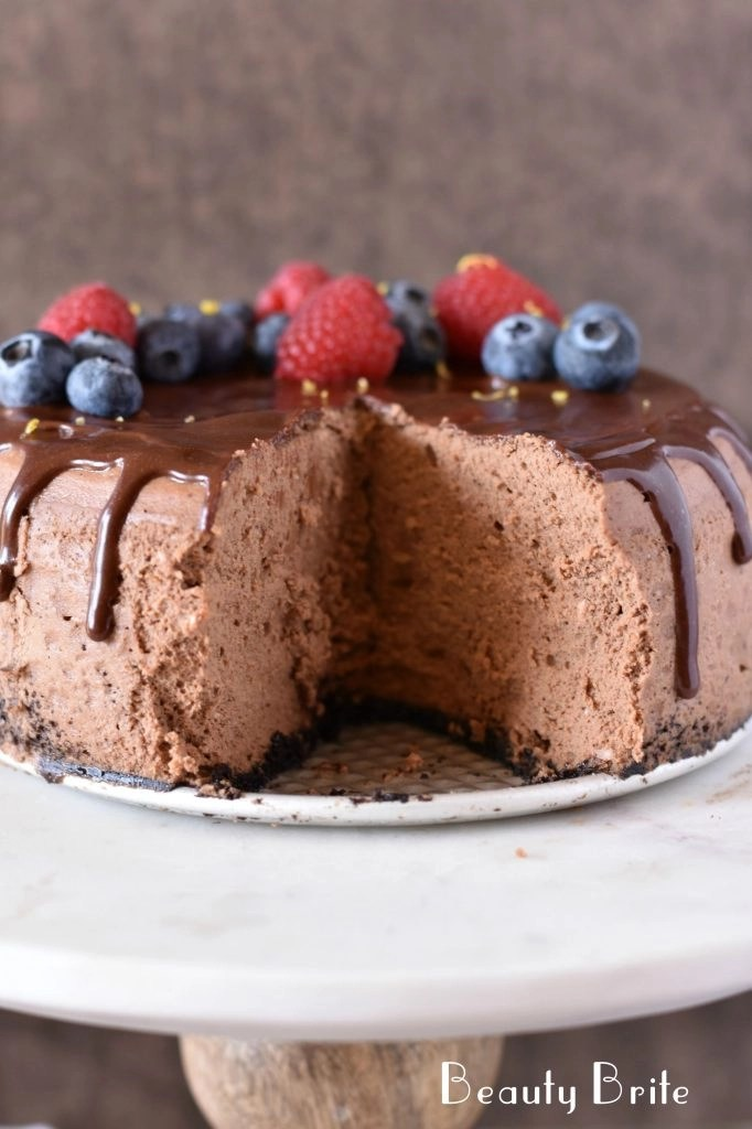Chocolate Cheesecake missing piece