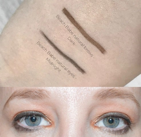 Green Beauty - Beach Babe Natural Eyes & Brows Swatches