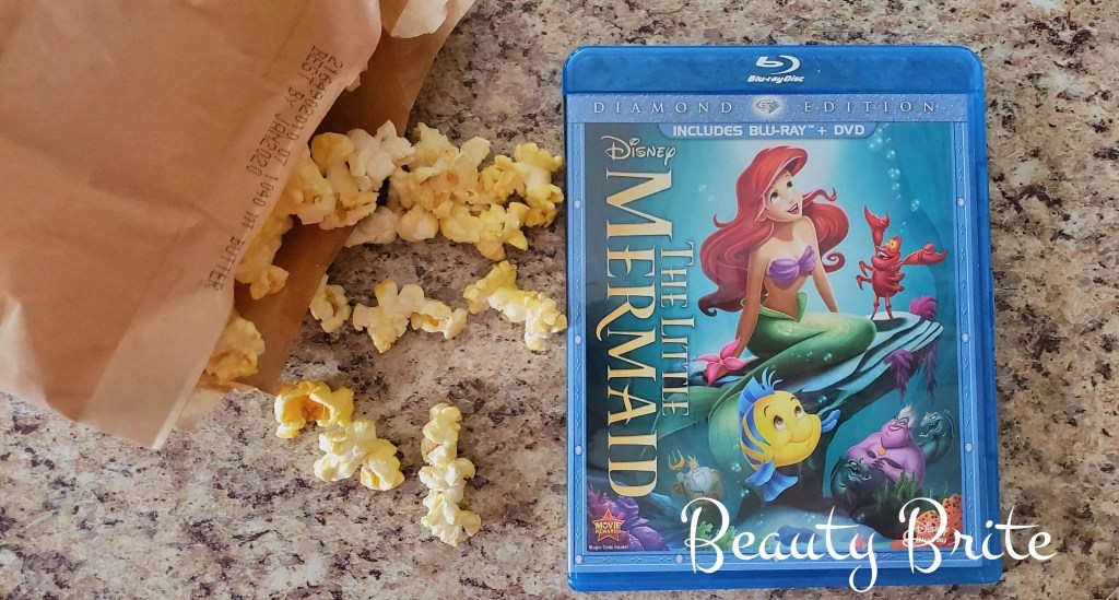 The Little Mermaid Diamond Edition DVD with popcorn