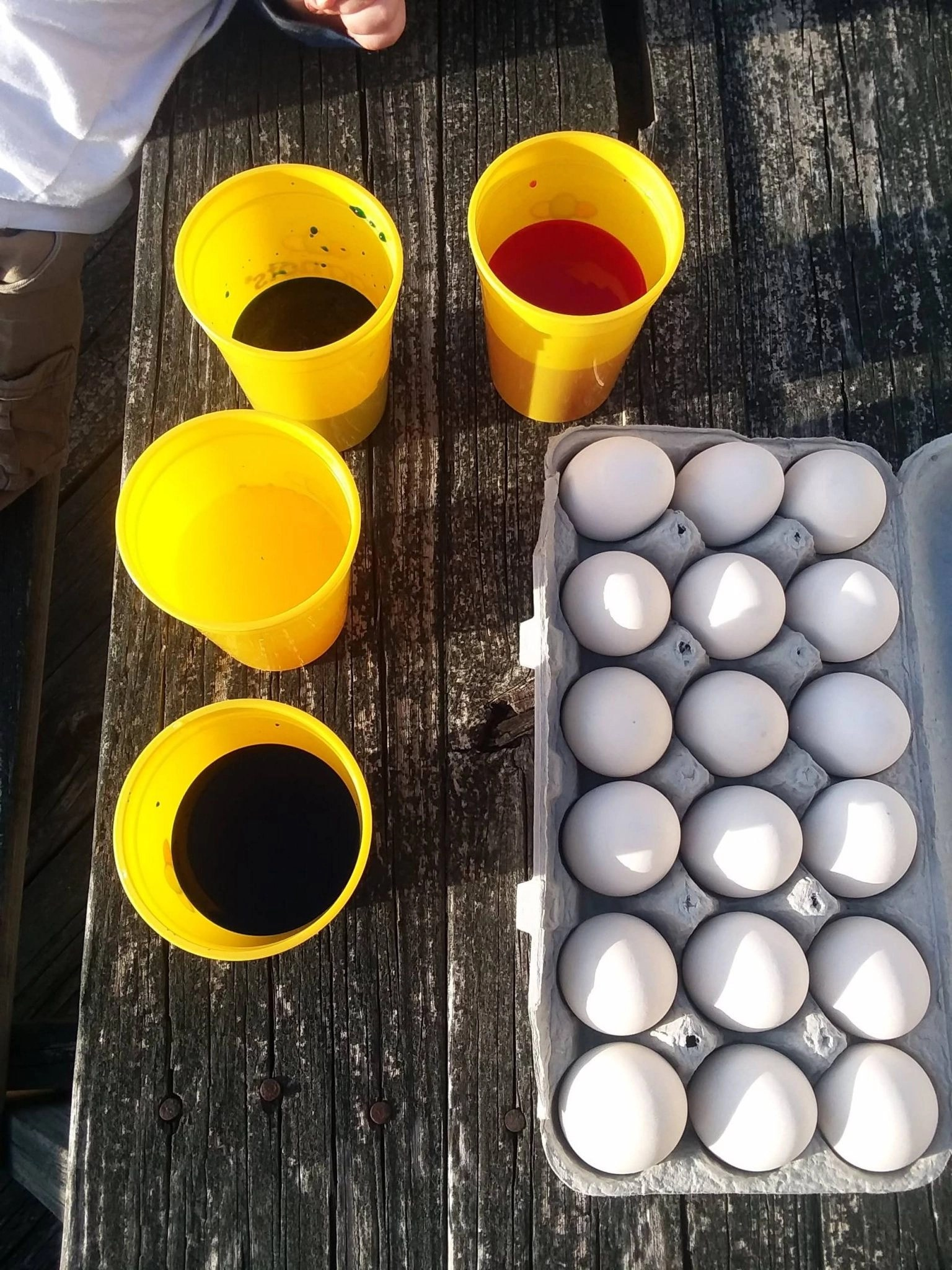 eggs and dye