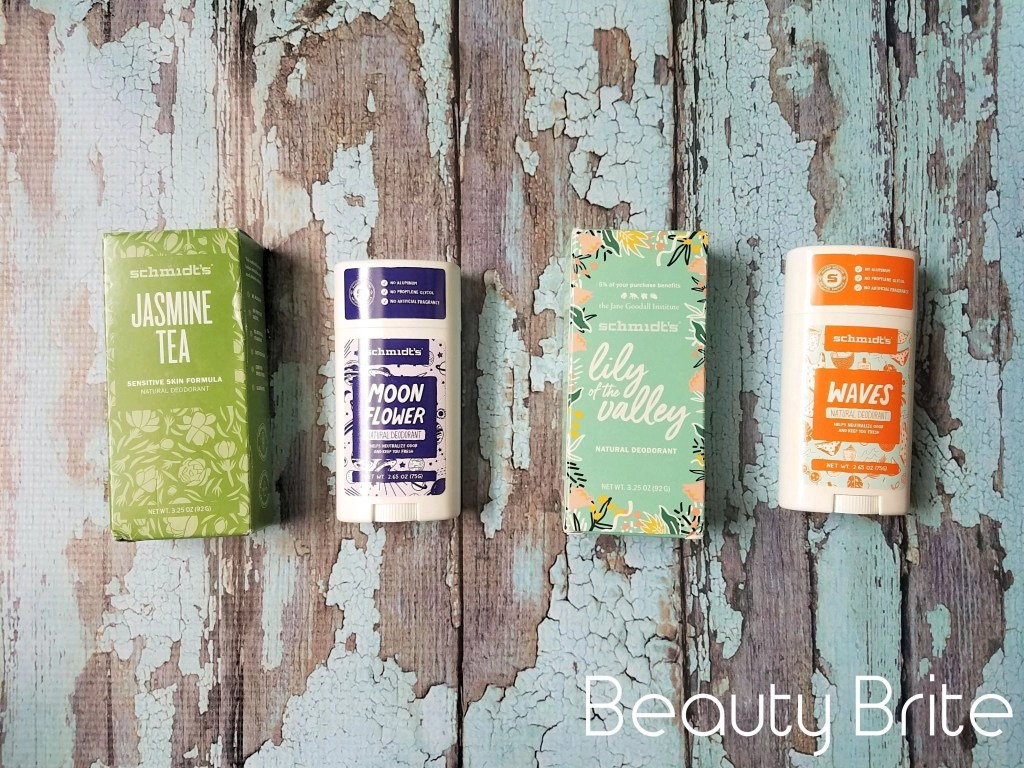 Schmidt's Deodorant in Jasmine Tea, Moon Flower, Lily of the Valley, and Waves