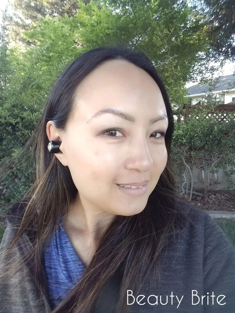 Wearing Stylaga Raven Earbuds