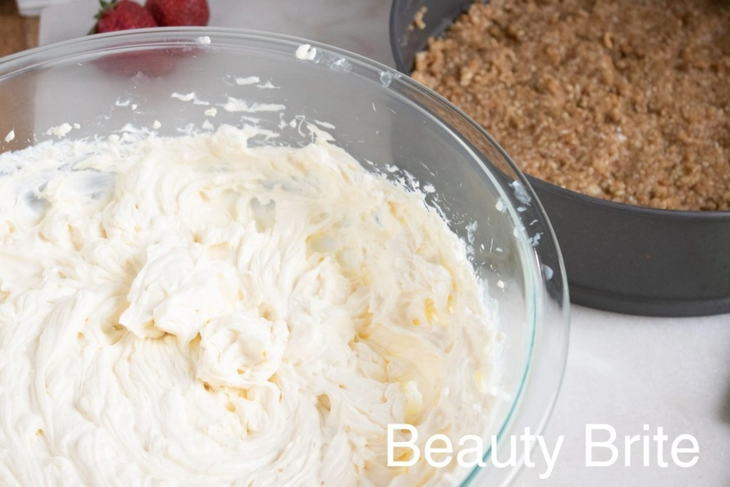No Bake Almond Cheesecake With Toppings IP crust