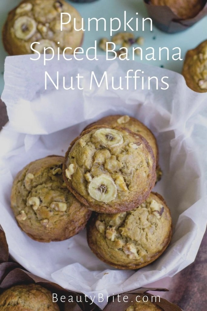 Pumpkin Spiced Banana Nut Muffins