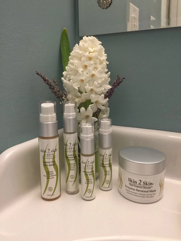 Skin 2 Skin Care - White Tea Face Wash - Enzyme Renewal Mask - Aging Intervention Cream - Revitalizing Eye Gel - Anti-Sagging Renewal Serum
