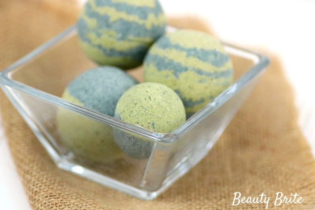 Spirulina Matcha Bath Bombs - social media