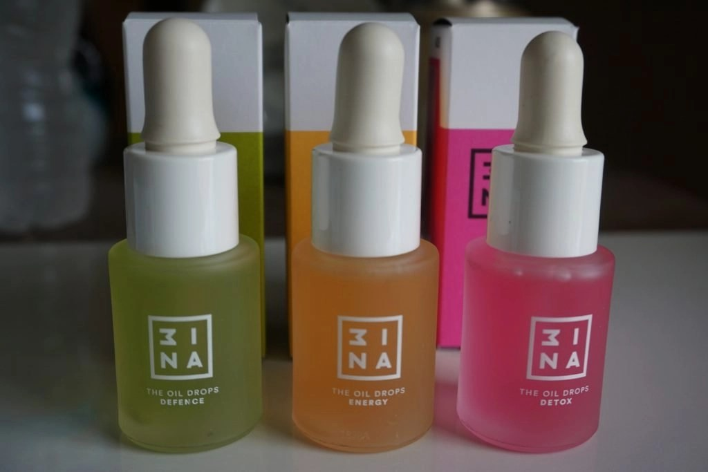 The three available 3INA oil drops