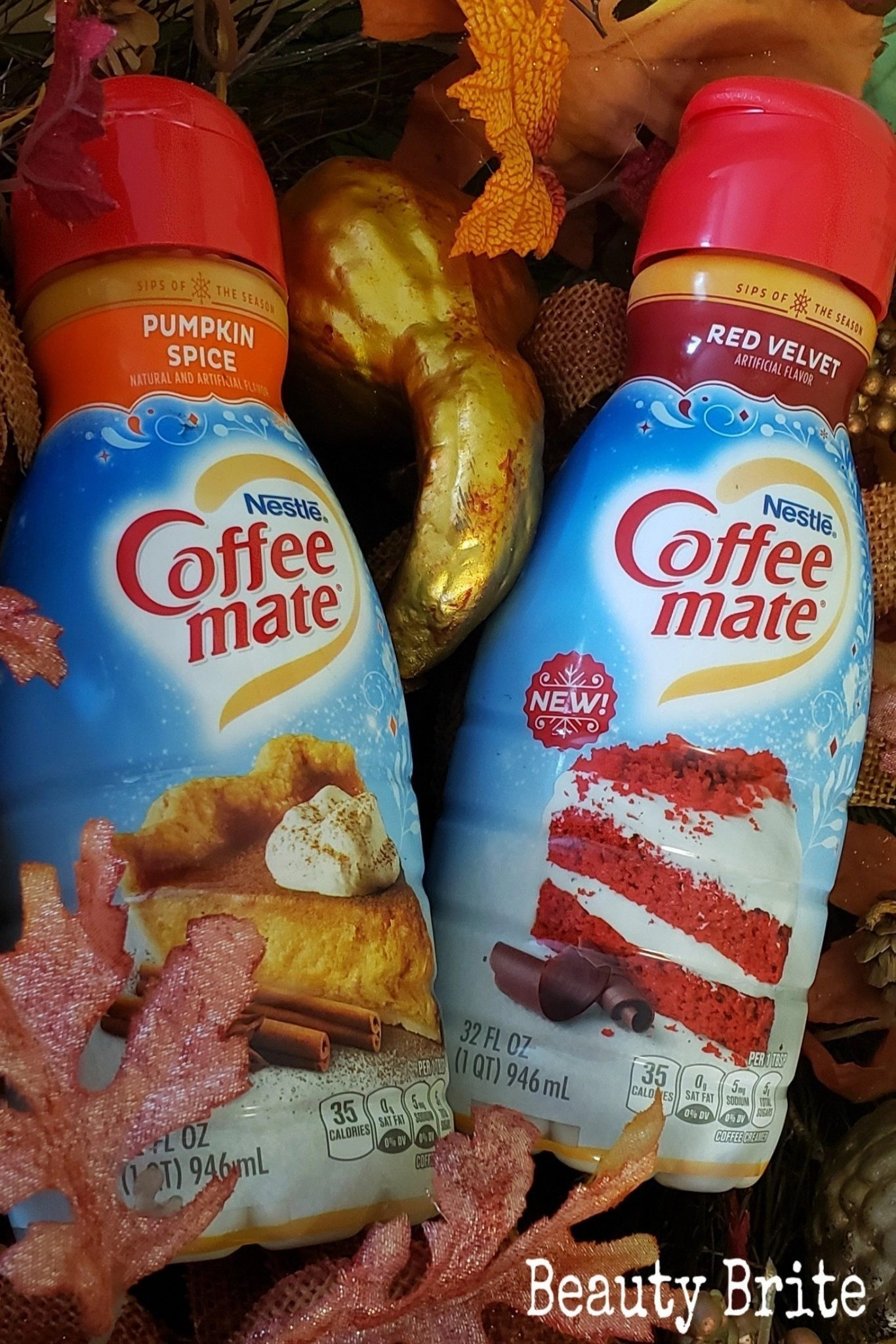 Coffee Mate Fall Creamer 2019 - Pumpkin Spice and Red Velvet