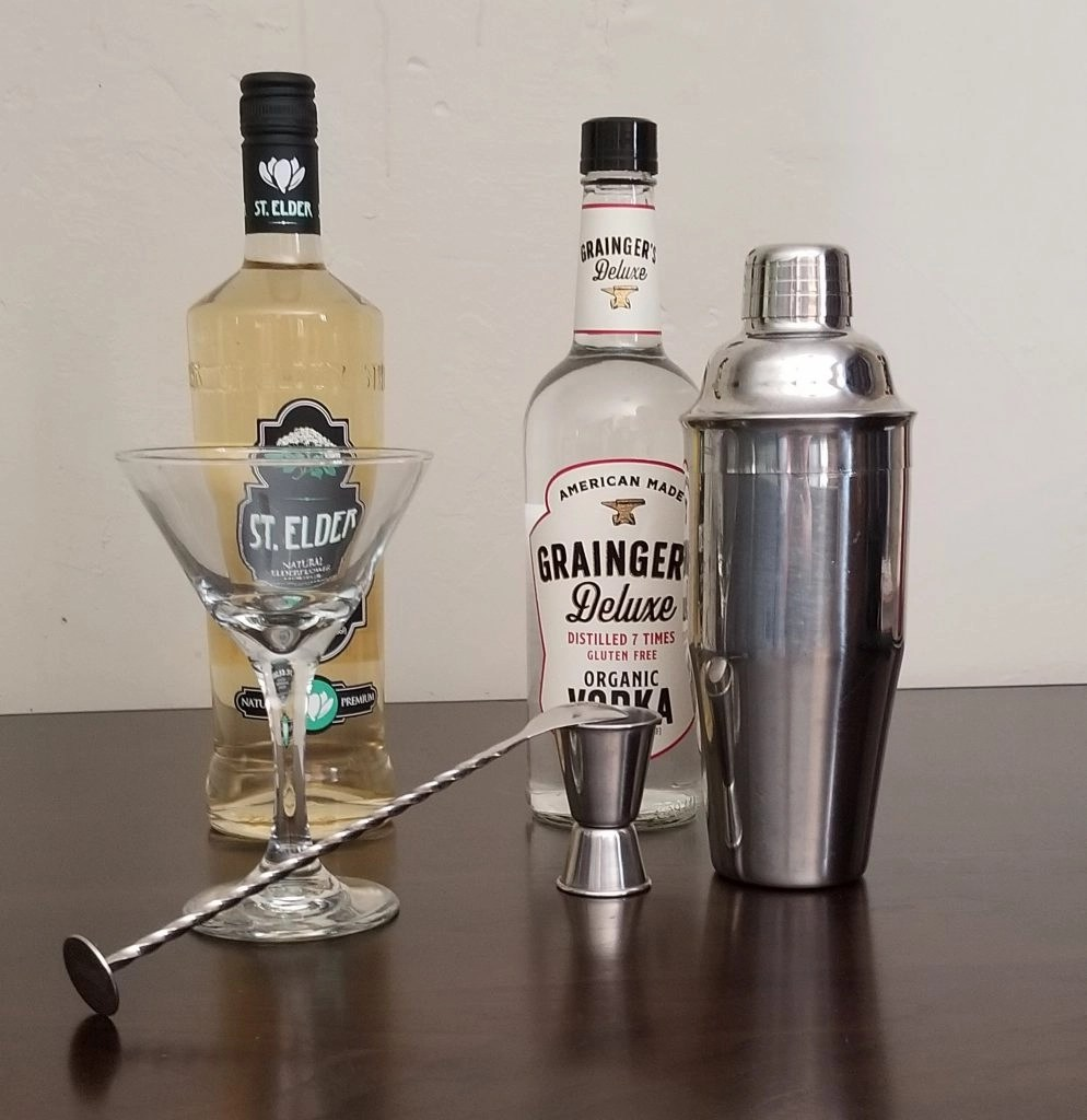 St. Elder Elderflower Liqueur and Grainger Deluxe Organic Vodka